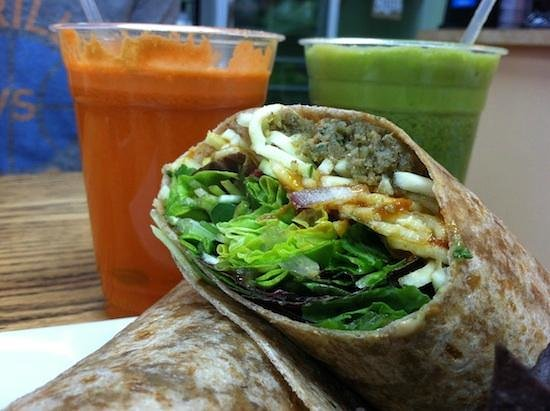 Food For Thought: Walnut Meatball Wrap