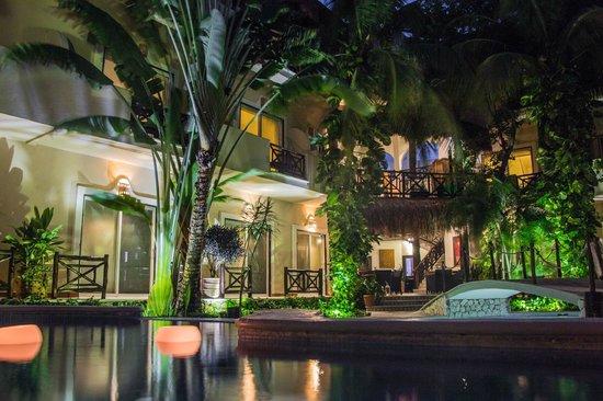 Hotel Riviera del Sol: Alberca de Noche