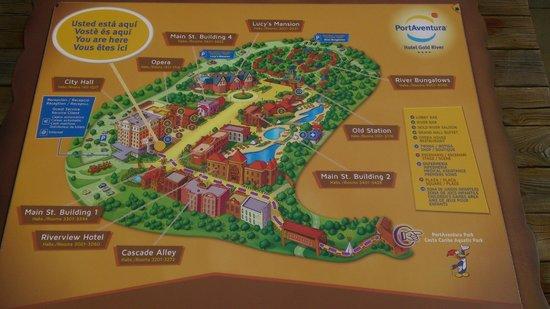 PortAventura Hotel Gold River: Plano del hotel