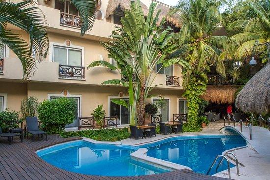 Hotel Riviera del Sol: Zona Alberca de dia.