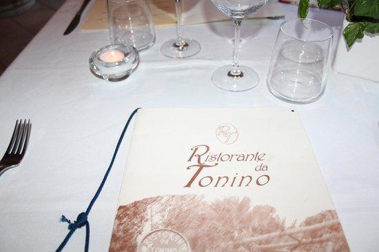 Da Tonino: menu