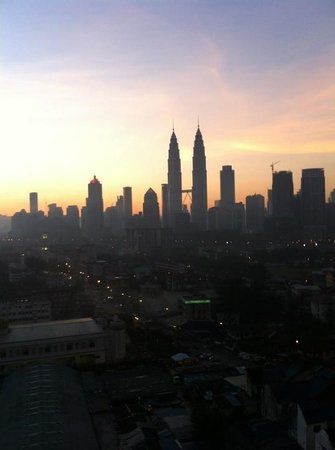 Cititel Express: Morning Petronas sunrise from bedroom
