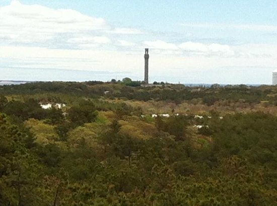 Province Lands Visitor Center : View of Monument Magnified