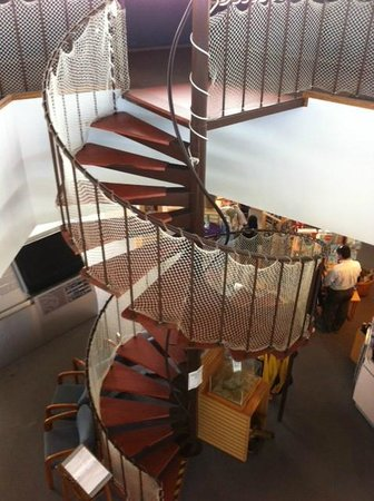 Province Lands Visitor Center: Spiral Stairs to Deck