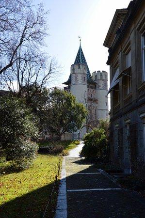 Botanischer Garten der Universität: вид на Пороховые ворота