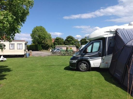 The Ship Inn: tranquil pitches at rear of pub