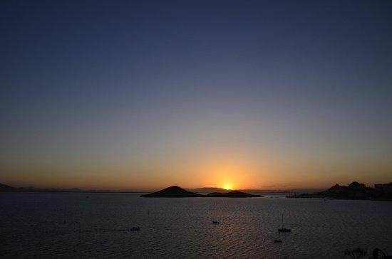Hotel Cavanna: Puesta de sol...