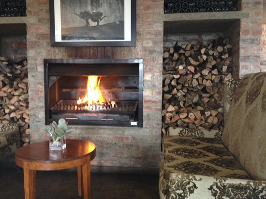 Franschhoek Kitchen: A welcome fire on a cold day