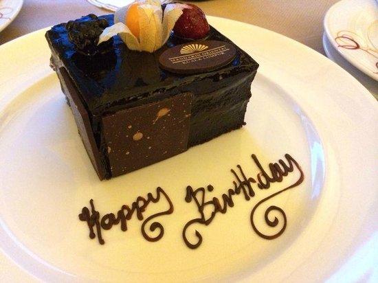 Mandarin Oriental, Kuala Lumpur: Birthday cake