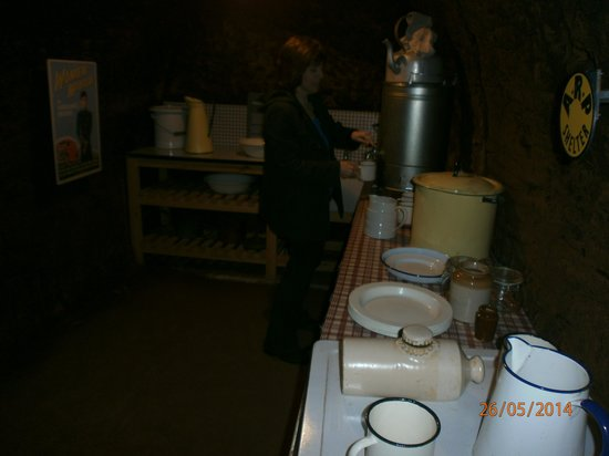 Stockport Air Raid Shelters: Always time for a brew.