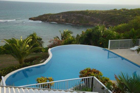 Hotel Amaudo: vue du balcon de notre chambre