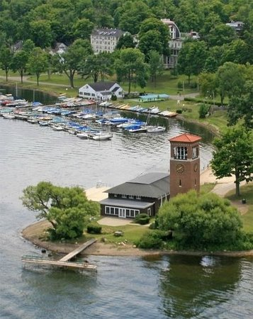 St. Elmo Accommodations : View from the Air-Grounds near the Water Front.