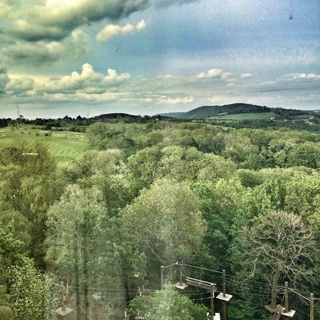 Celtic Manor Resort: View from room 1055
