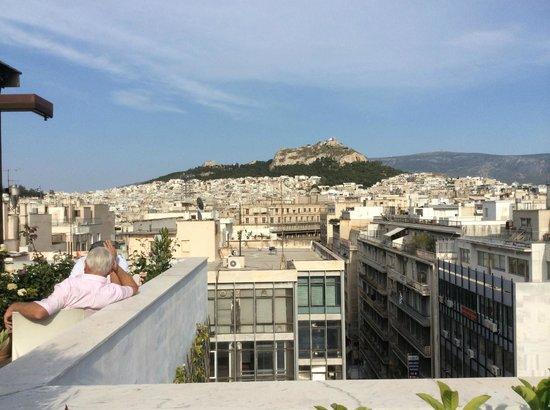 Polis Grand Hotel: la vue depuis la terrasse