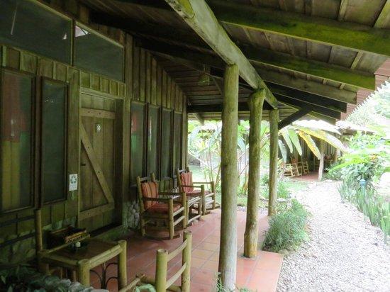 Esquinas Rainforest Lodge: The veranda of our room