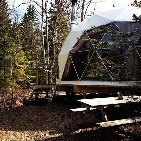 Ridgeback Lodge: Front view of Dream Dome