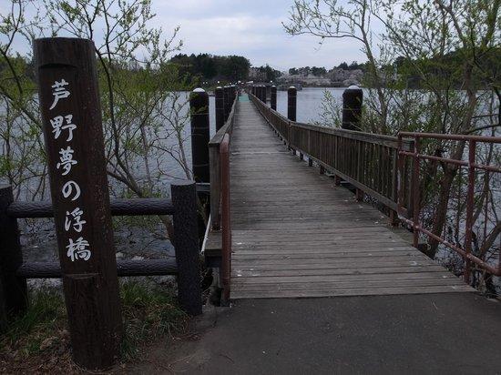 Ashino Park: 浮き橋もあります