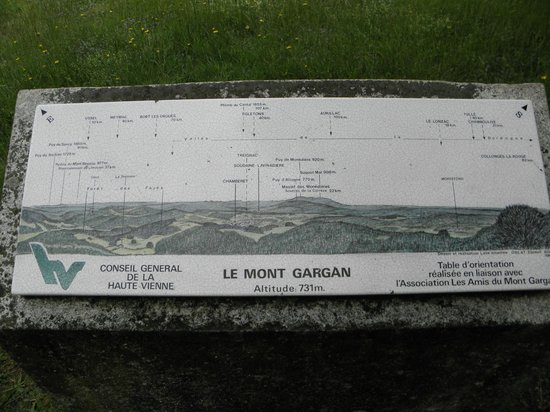 Le Mont Gargan : table d'orientation