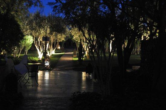 Les Deux Tours: Les 2 Tours : Le jardin le soir