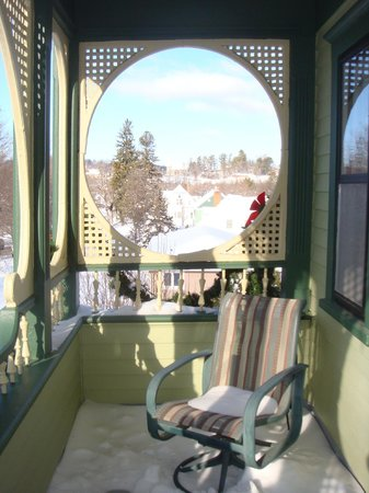 Habberstad House : View from the upstairs Rose Suite porch