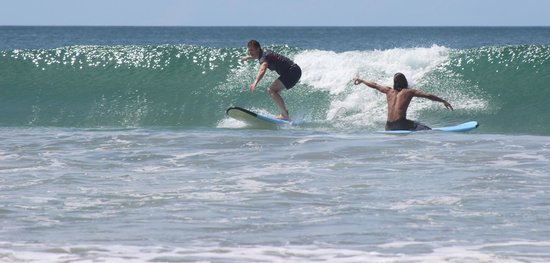 Point Break Surf School: Catching a wave!!