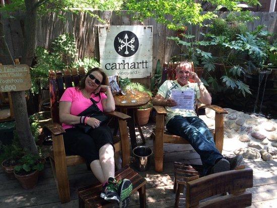 Captain Jack's Santa Barbara Tours: Charlotte having too much fun