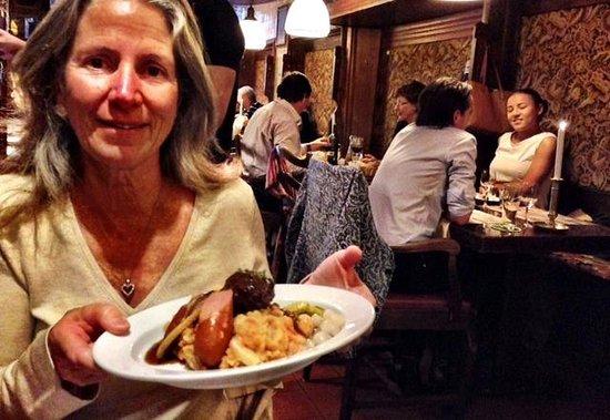 Restaurant Haesje Claes: Ann Dunham loved her dinner.  Photo by Terry Hunefeld
