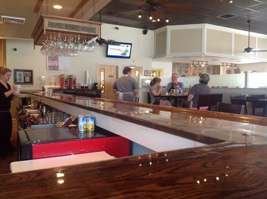 Fire Stone Wood Fired Pizza and Grill: View from the bar area