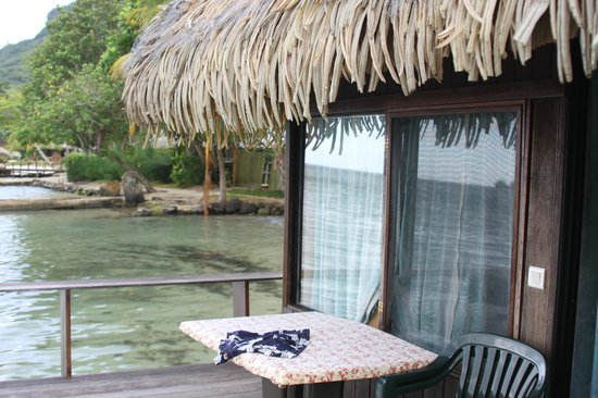 Club Bali Hai Moorea Hotel: vue de la terasse