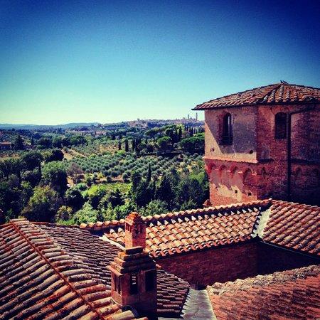 Castello delle quattro torra : view from a tower