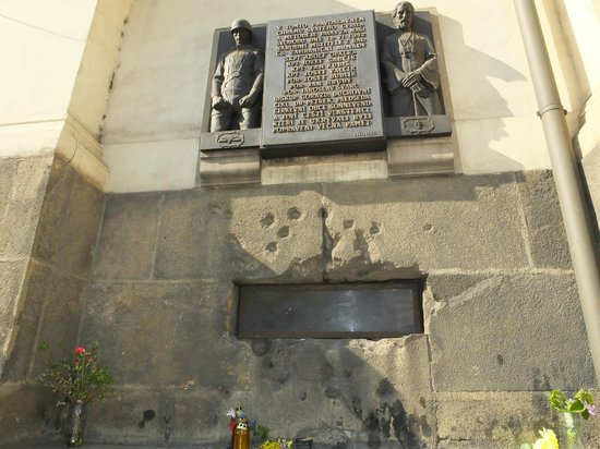 St Cyril and St Methodius Cathedral: Outside bullet riddled vent..!