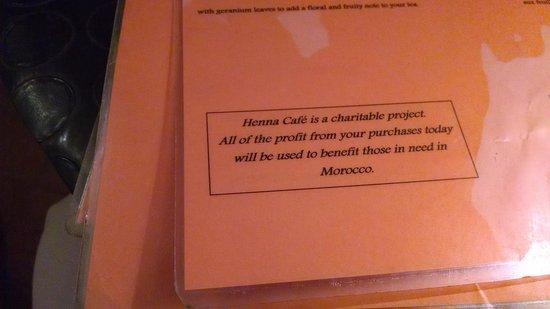 Henna cafe : Mission Statement