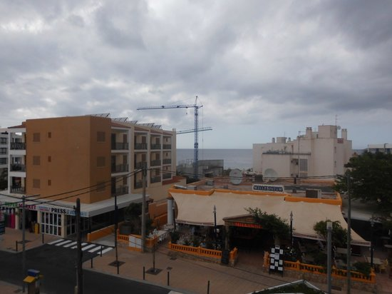 Arcomar Apartments: view from balcony onto street