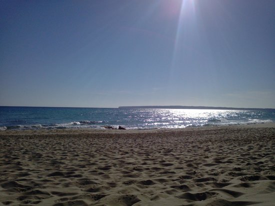 Hotel Riu La Mola: Playa al lado del hotel
