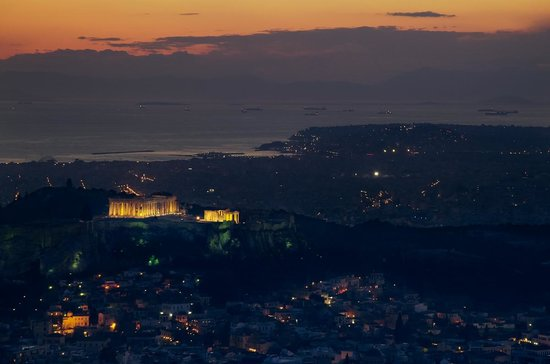 Mount Lycabettus : View from Lycabettus (sunset)