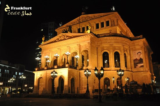 Alte Oper: Opera House at night