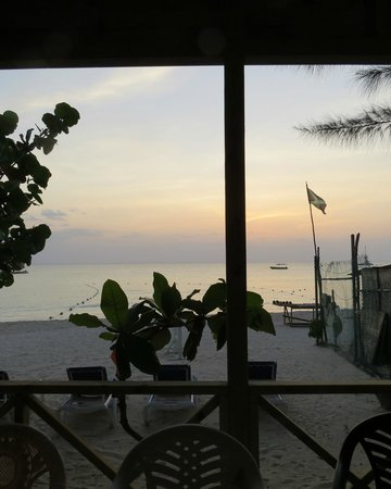 Firefly Beach Cottages: View from the restaurant