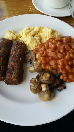 Mercure Inverness Hotel: Veggie sausages available on request!