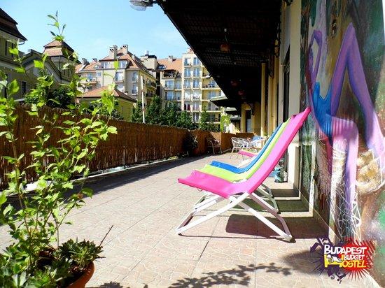 Budapest Budget Hostel: Terrace