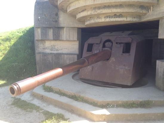Batterie de Longues : Original gun position.