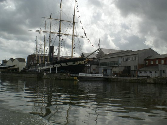 Bristol Ferry Boats: View of the SS Great Britain from the ferry boat