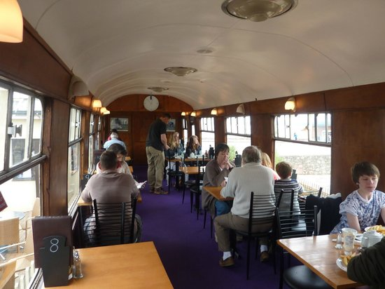 Railway Carriage Cafe: Insdie view