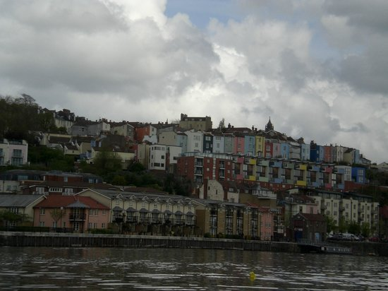 Bristol Ferry Boats: Colorful houses - view from my ferry boat ride