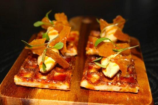 Purnell's: Waffles - foie gras butter