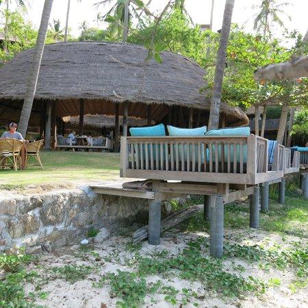 Haadtien Beach Resort: zona colazione