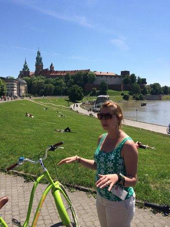 Krakow Bike Tour: Informationen vor der Weichsel.