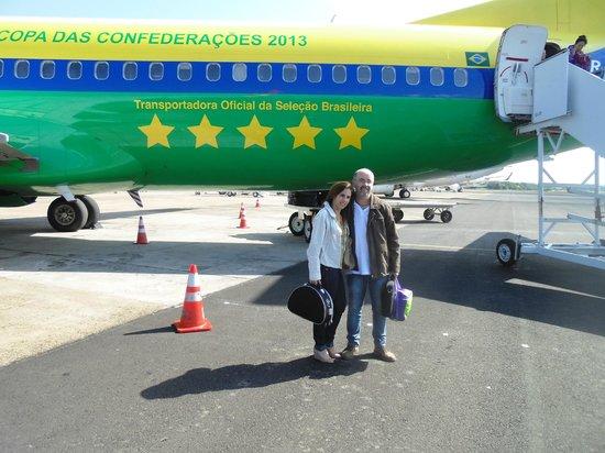 Ibis Foz Do Iguacu: Aeroporto de Foz, no avião da seleção!