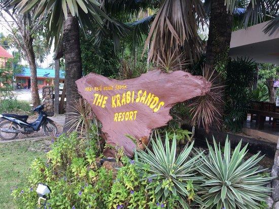 Krabi Sands Resort : надпись у входа