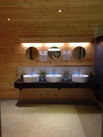 The Hideaway at Baxby Manor: Fab clean toilet block.