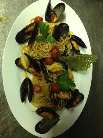 La Locanda: Spaghetti alle cozze.